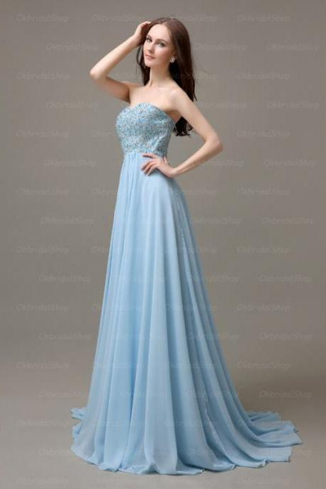Elegant Handmade Long Strapless Simple Prom Dresses, Long Prom Gowns, Bridesmaid Dresses, Wedding Party Dresses