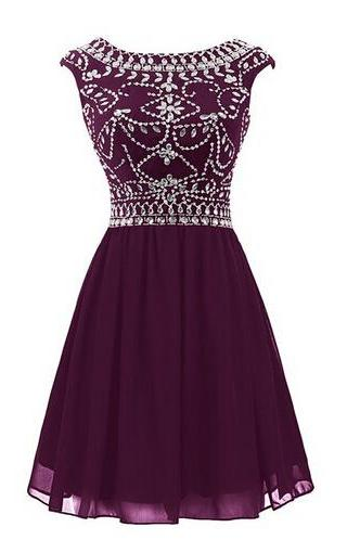 Prom Dress,Homecoming Dresses, Cocktail Dresses,Grape Purple Prom Dress,Short Prom Dresses,Custom Made Prom Dresses,Sexy Prom Dress,2016 Prom Dresses