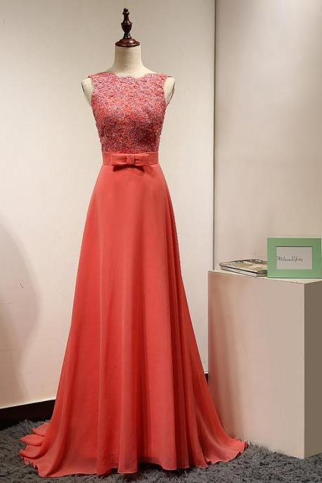 Coral Evening Dresses,,Evening Dresses 2016, A Line Evening Dresses,Long Evening Dresses, Backless Prom Dresses,Sexy Dress,Evening Gowns,Red Carpet Dresses 2016,Long Prom Dresses, Formal Gowns,Party Dresses