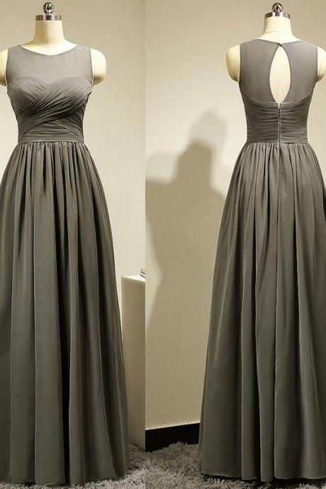Gray Evening Dresses,Evening Dresses 2016, A Line Evening Dresses,Long Evening Dresses, Long Prom Dresses,Sheer Neck Women Dress,Evening Gowns,Red Carpet Dresses 2016,Long Prom Dresses, Formal Gowns,Party Dresses