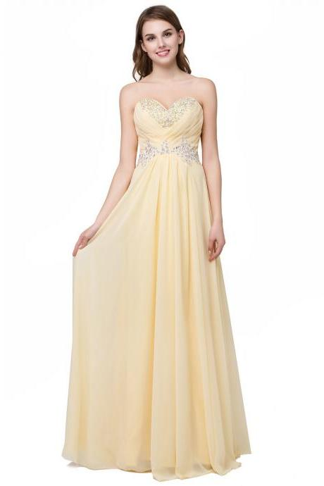 Sexy Yellow Bridesmaid Dress,Floor Length A Line Yellow Bridesmaid Dresses,Elegant Long Cheap Prom Dresses Party Evening Gown