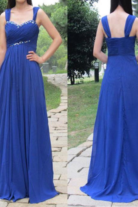 Elegant Spaghetti Straps Blue Bridesmaid Dresses, Beautiful Floor Length Bridesmaid Dresses, Wedding Party dresses,Formal Gowns,Prom Dresses,Evening Gowns