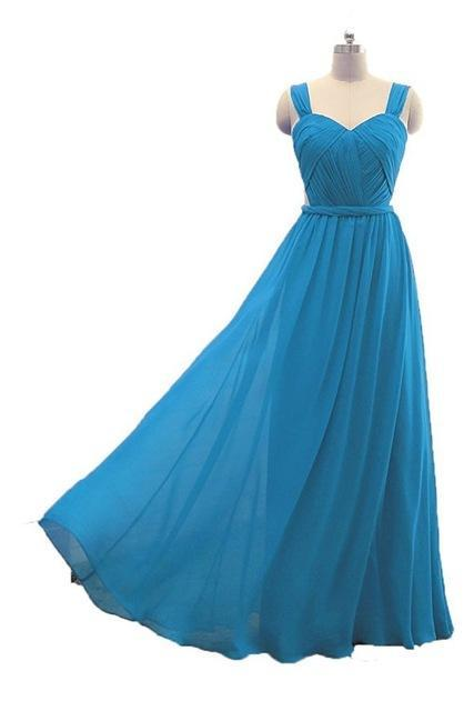 Sexy Blue Bridesmaid Dress,Floor Length A Line Blue Bridesmaid Dresses,Elegant Long Cheap Prom Dresses Party Evening Gown