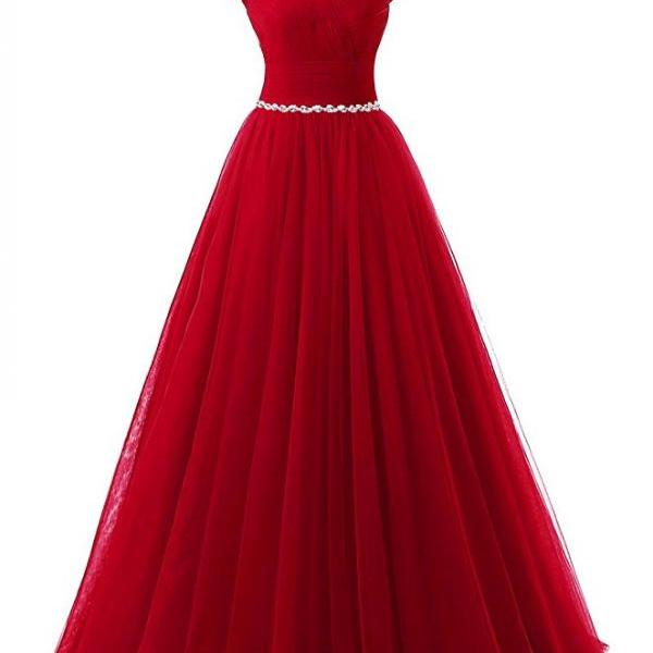 2017 Red Prom Dress Sexy Lace-Up Tulle Evening Dresses Party Dresses Robe De Soiree Formal Gowns
