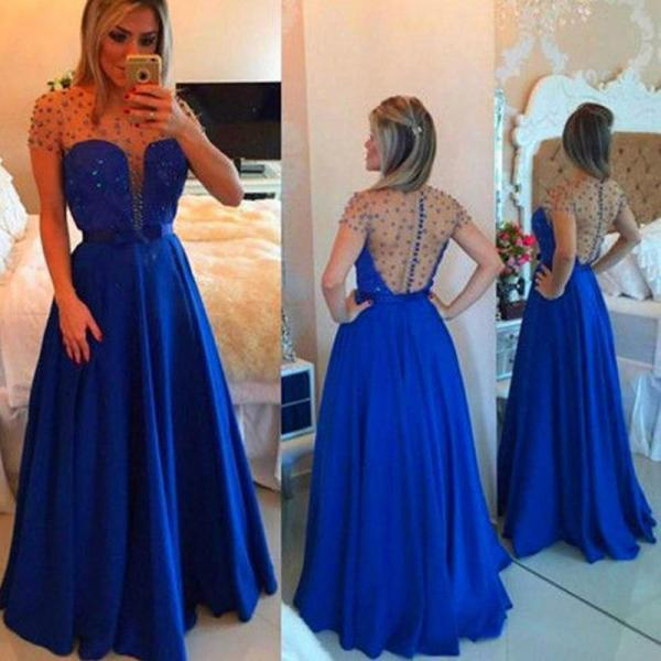 Evening Dresses 2019,Blue Evening Dresses, Long Chiffon Evening Dresses,Evening Gowns, Red Carpet Dresses 2019,Long Prom Dresses, Formal Gowns,Party Dresses
