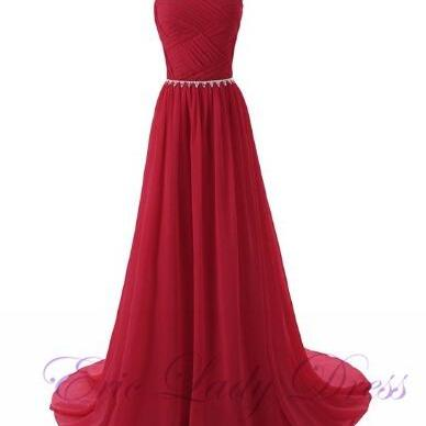 Long Burgundy Sheer Neck Evening Dresses Beaded Chiffon Backless Prom Dresses 2016 Real Photo Homecoming Cocktail Graduation Party Dresses Robe De Soiree Formal Gowns