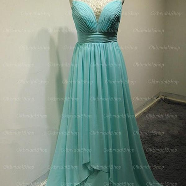 Elegant Long Blue Backless Prom Dresses, Long Prom Gowns, Bridesmaid Dresses, Wedding Party Dresses