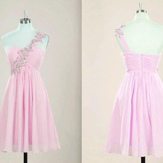 prom dresses,Short Pink Prom Dresses,Chiffon Prom Dresses,2016 Cheap prom dresses,Short Pink Evening Dress,Graduation Dresses, Homecoming Dresses, Cocktail Dresses,Formal Gowns